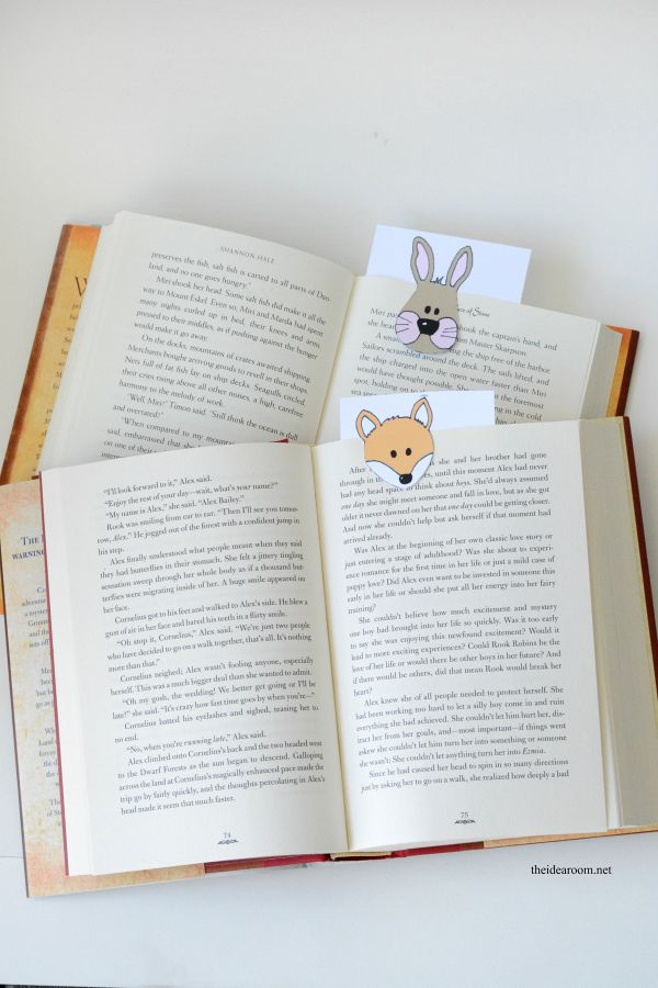 how to make animal bookmarks
