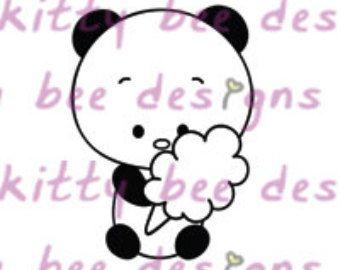 Cotton Candy Panda digitale stempel