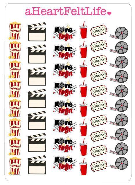 Movie Night Stickers
