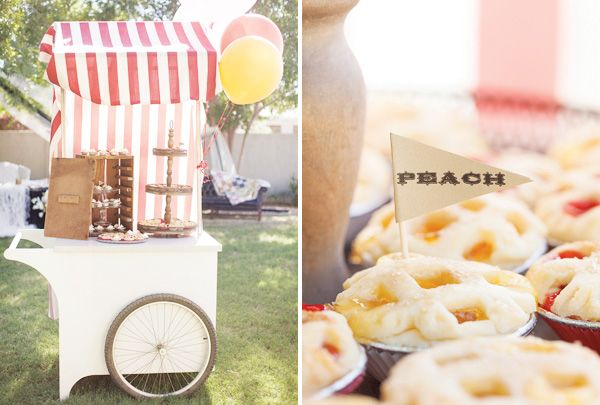 circus party pie stand