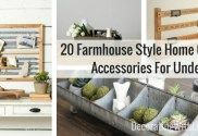 20 Farmhouse Style Home Office Accessories For Under $75