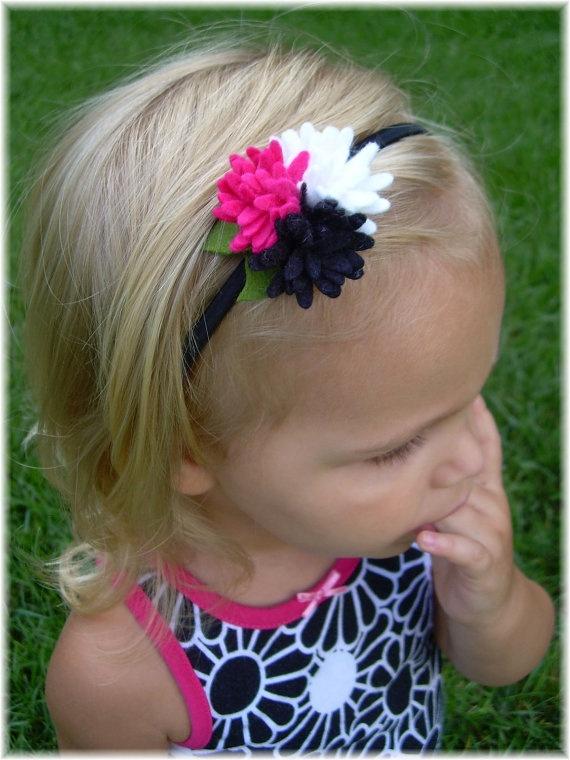 Cute felt flower headband