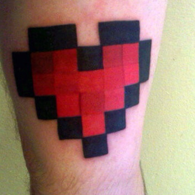 Minecraft Heart | tattoos | Pinterest - 95.8KB