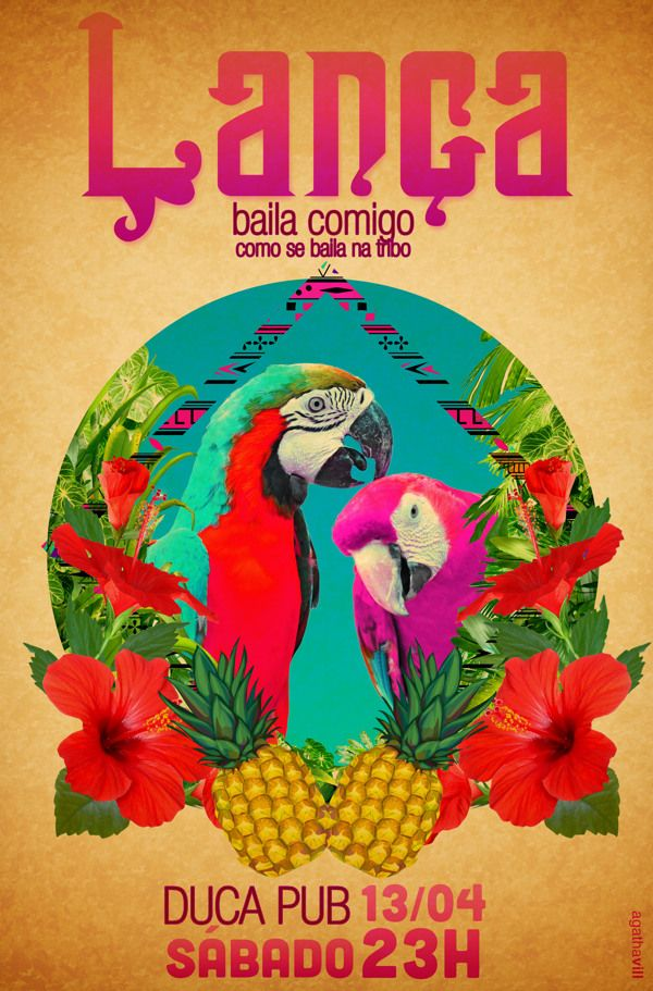 Flyers Festas by Agatha Vill, via Behance