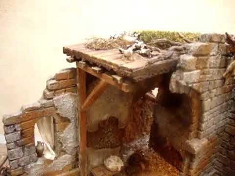 1105 - Pesebre con semiarcos en ruinas para figuras de 15 a 21 cm