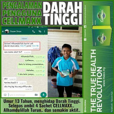 Cellmaxx Malaysia: Pengalaman Pengguna Cellmaxx Darah tinggi Umur 13 ...