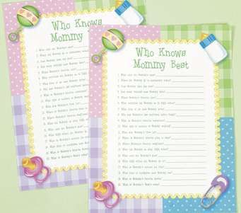 Halloween Baby Shower Games   Baby Games On Who Knows Mommy Best Baby  Shower Game Baby