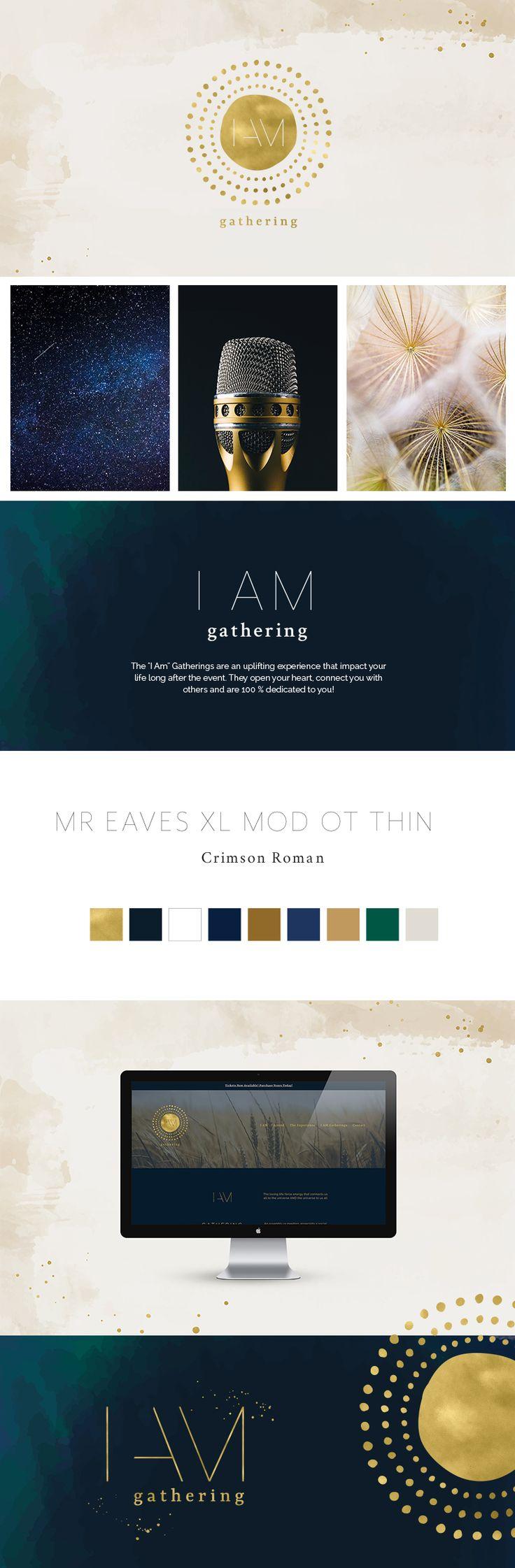 Branding & Website for I AM Gathering. #graphicdesign #branding #websitedesign #CreatedbyFicus