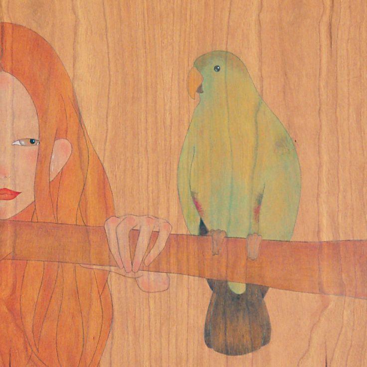 """""""i like it when you mimic my voice brightly-coloured parrot""""  """"em fa gràcia quan imites la meva veu lloro de colors vius"""""""