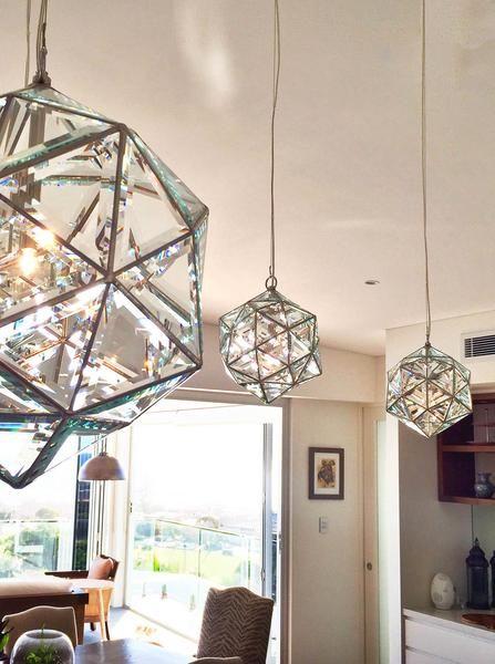Zakay Glass Luminary Sculpture - 'Zaniah' Large - Glass type 'Clear Glass'
