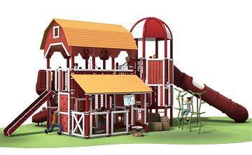 Spend a day at the farm with this unique Farmstead playground from Landscape Structures.