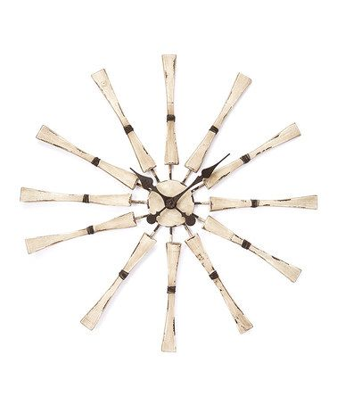 distressed wood sunburst clock zulilyfinds