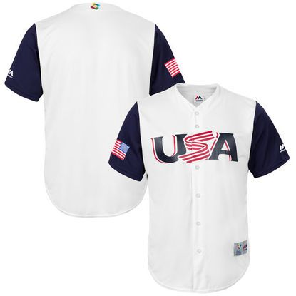 USA Baseball Majestic 2017 World Baseball Classic Replica Team Jersey in White