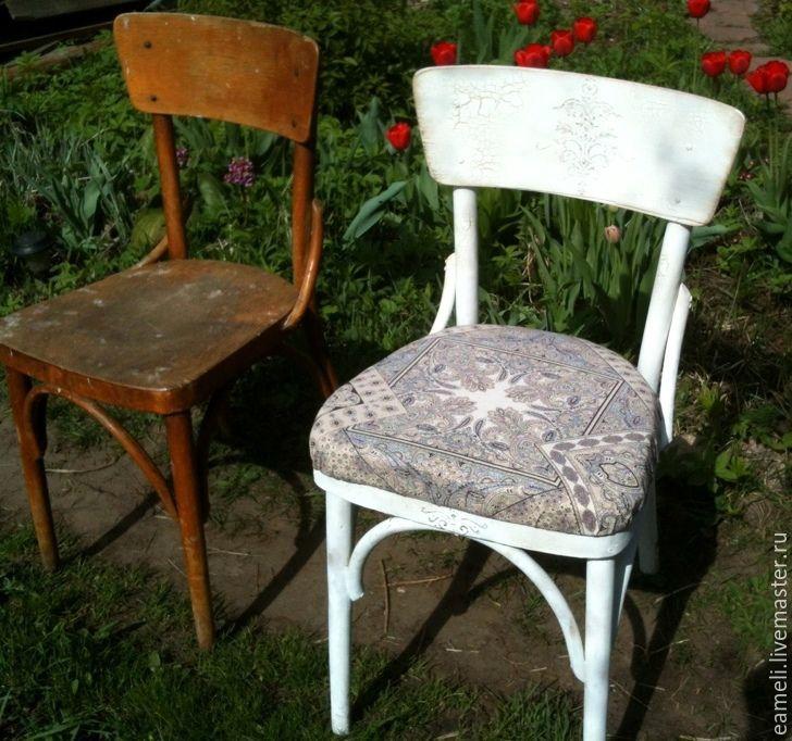 Купить Реставрация венского стула - белый, стул, Мебель, реставрация мебели, реставрация, венский стул