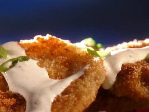 Fried Green Tomatoes with Horseradish CreamFood Network, Guy Fieri, Horseradish Cream, Horseradish Sauces, Cream Tomatoes, Fries Green Tomatoes, Guys Fieri Recipe, Cream Recipe, Fried Green Tomatoes