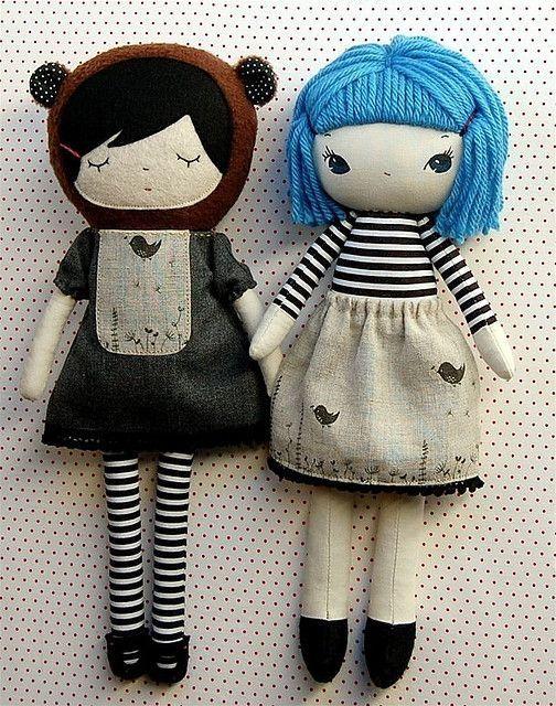 Fabric dolls. by cheryl