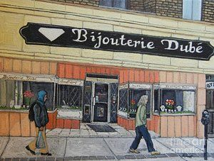 Painting - Bijouterie Dube by Reb Frost