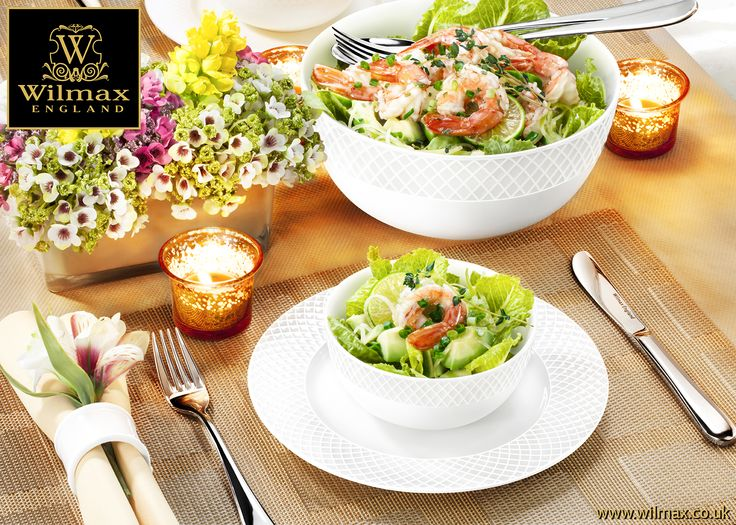 TABLE SETTING WITH WILMAX Salad Serving