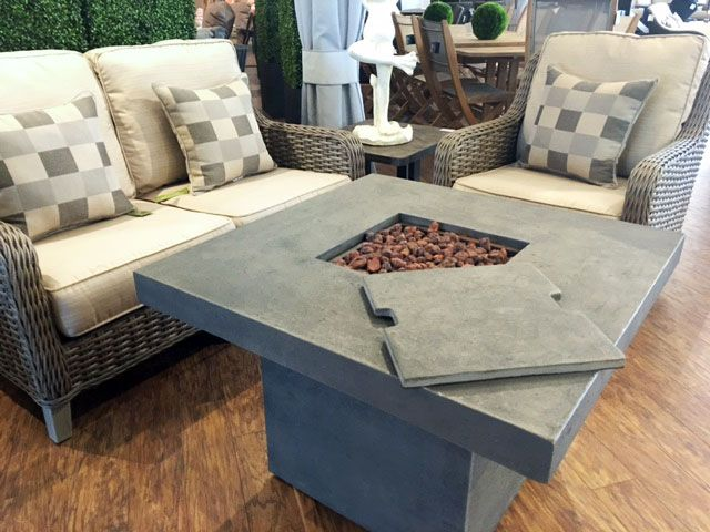 Exclusive Woven Wicker Deep Seating Set W/ Loveseat, Club Chair, And Fire  Pit