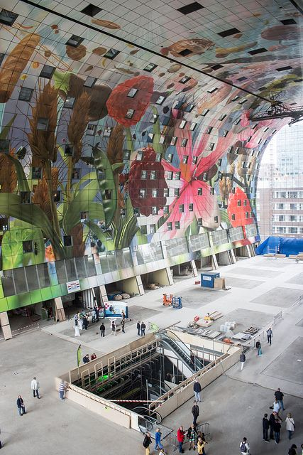 Markthal inside art by mishavb, via Flickr | Rotterdam | The Netherlands