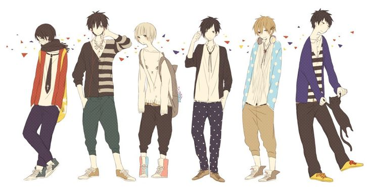 gorgeous outfits anime boy characters