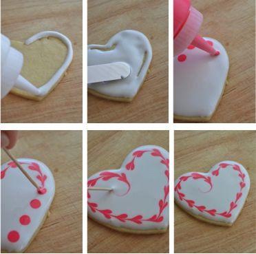 Heart Cookies Steps