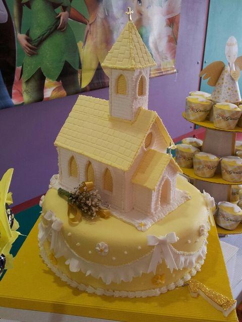 Cake at a Baptism Party #baptism #partycake