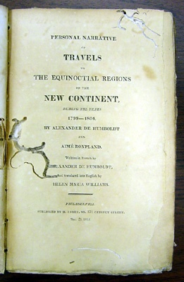 Alexander von Humboldt's Personal Narrative of Travels to the Equinoctial Regions of America