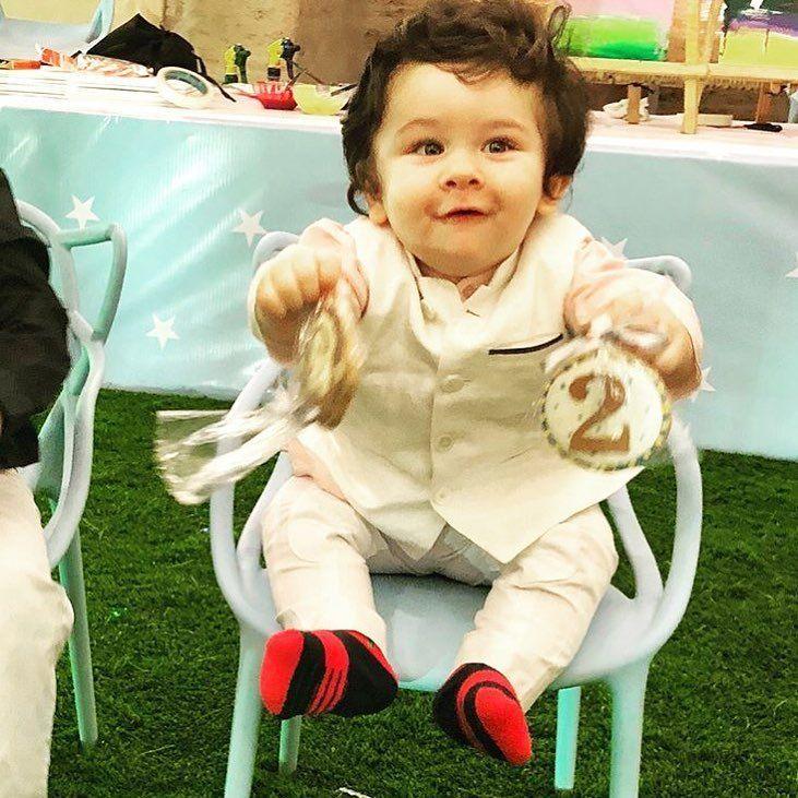 My Baby Looks So Excited In His Birthday Happybirthdaytaimur Baby Boy Dress Kids Indian Wear Cute Babies
