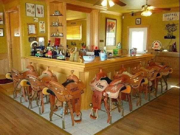 I would clean up all our unused saddles. Love this idea