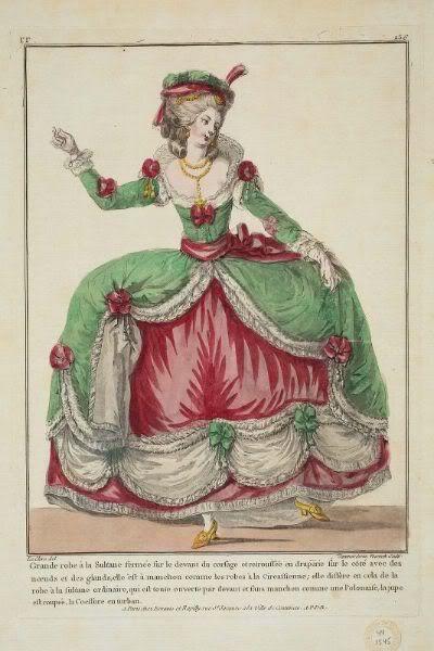 .    Grand robe à la Sultane - love it.  1782