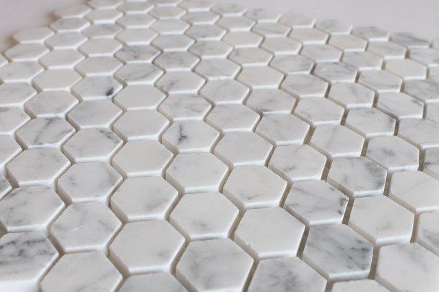 Gepolijst Hexagon Carrara Wit Marmer Mozaïek Tegel voor keuken backsplash sticker badkamer muur vloertegel gratis verzending CMH02