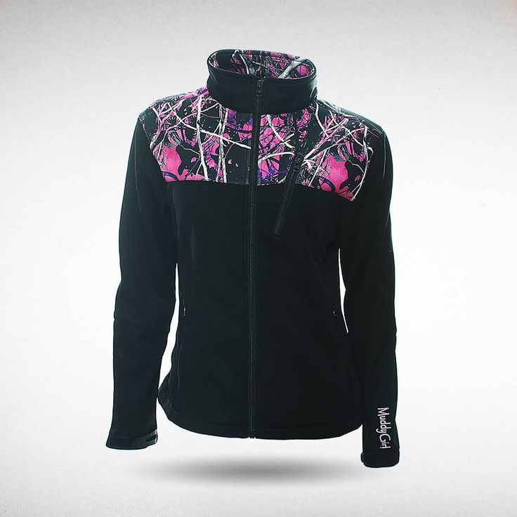 Moon Shine Camo - Muddy Girl Camo | Women's Pink Camouflage Soft Shell Jacket, $59.99 #muddygirl #pinkcamo #fleece