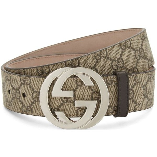 99128b10 Gucci GG Supreme belt ($400) ❤ liked on Polyvore featuring men's ...