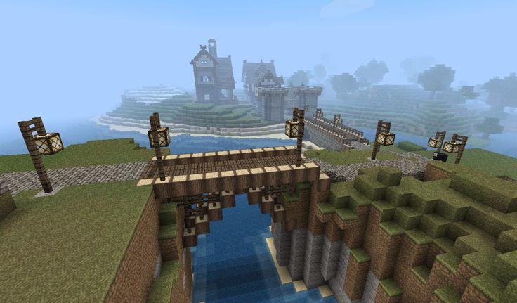 Minecraft Bridge Designs | Minecraft Medieval Bridge Medieval town minecraft