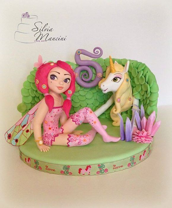 Mia and Me - by Silvia Mancini Cake Art @ CakesDecor.com - cake decorating website