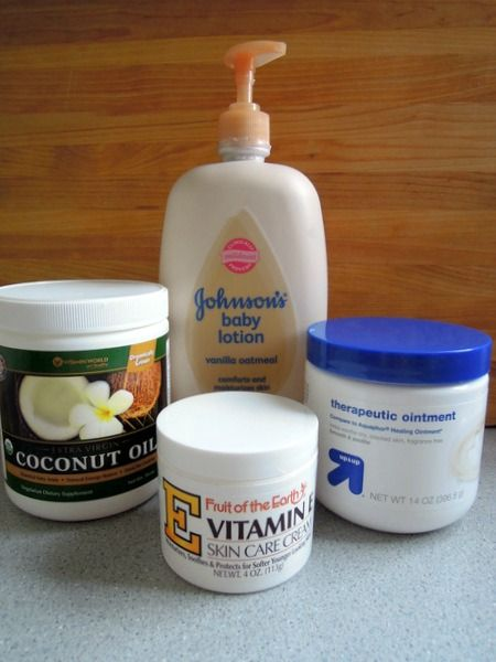 The Cure for Dry Winter Skin {Homemade Lotion Recipe} just like the one I already make but with aquaphor instead of Vaseline and coconut oil