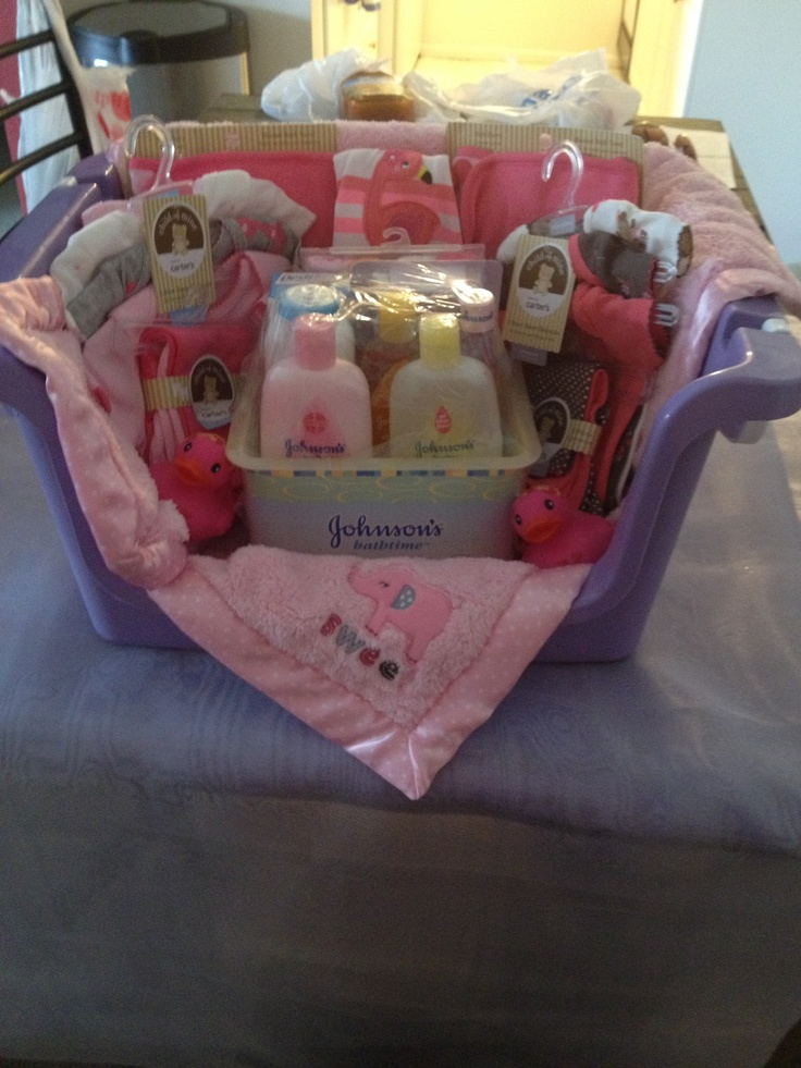 Baby Shower Gift Basket Gift Ideas Pinterest