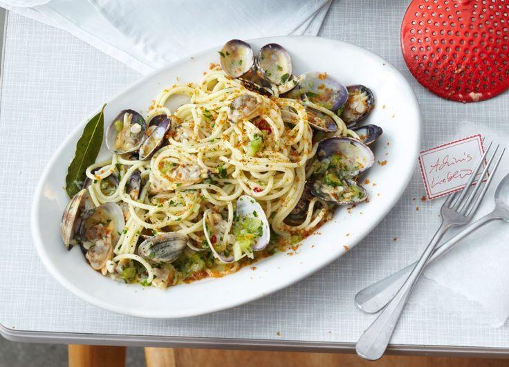 Spaghetti vongole mit Bottarga Rezept