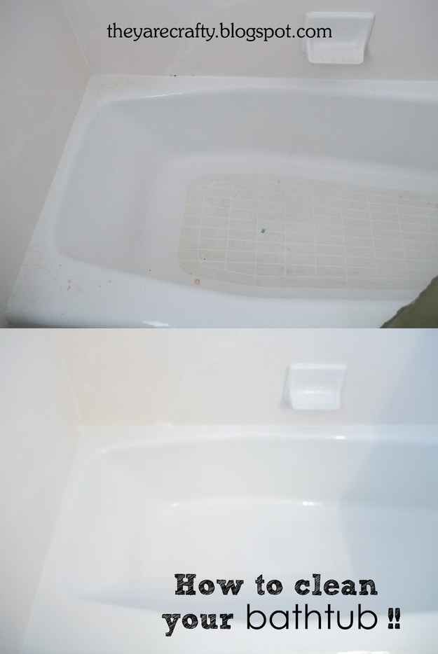 1000+ Ideas About Clean Bathtub On Pinterest | Bathtub Cleaning