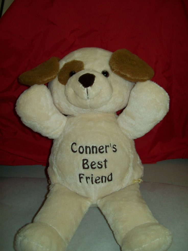 25 best plush animals free embroidery images on pinterest baby personalized puppy dog with free personalization 3389 with free shipping negle Image collections