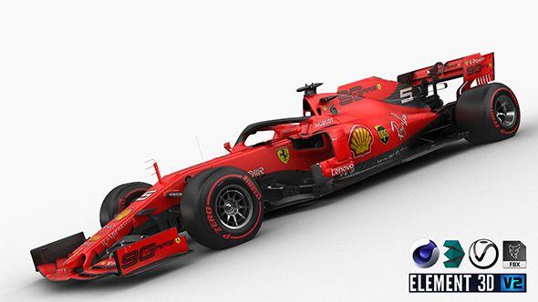 F1 Scuderia Ferrari Sf90 2019 Ferrari Car 3d Model Car