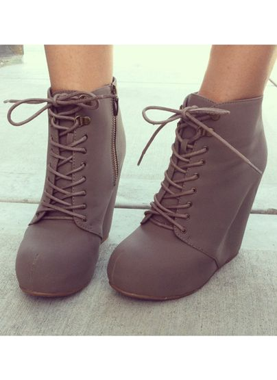 Basically Cool Wedge Booties on Chiq http://www.chiq.com/gojane/basically-cool-wedge-booties