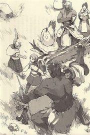 Re:Monster Volume 3 Illustration! Kichi Training Oro & Argente  Rou has kids!