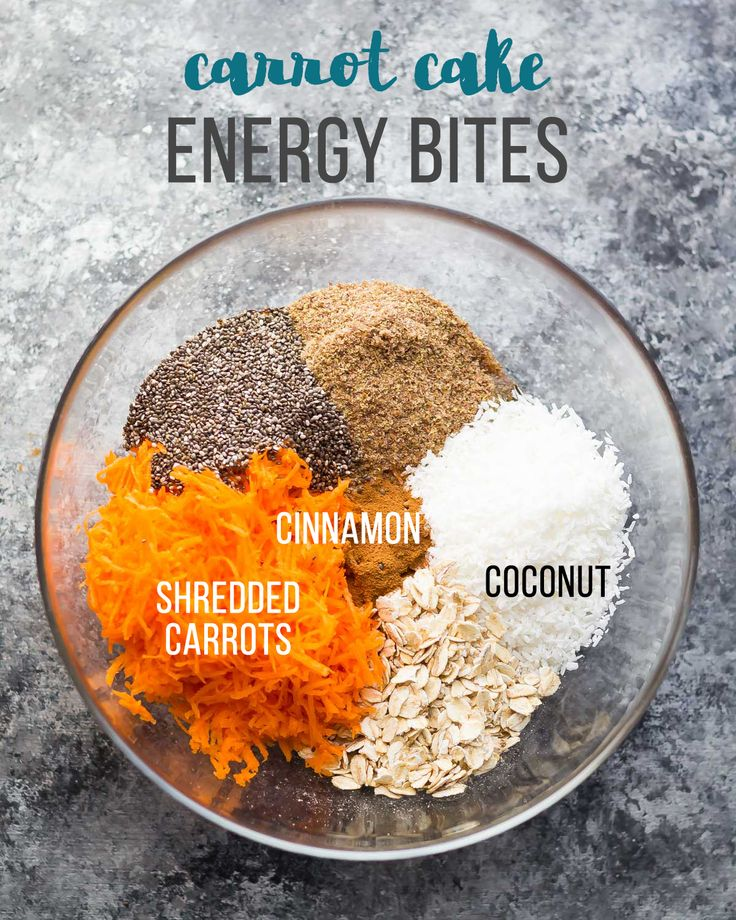 Carrot Cake Energy Bites Seven No Bake Energy Bites Recipes including the one above.