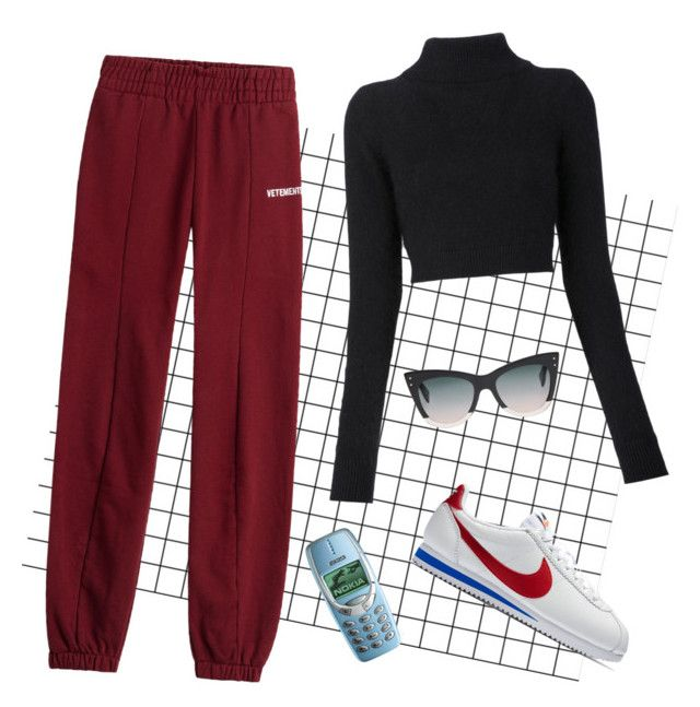 """""""nokia queen"""" by holaallyy on Polyvore featuring Vetements, Balmain, NIKE, Nokia and Fendi"""