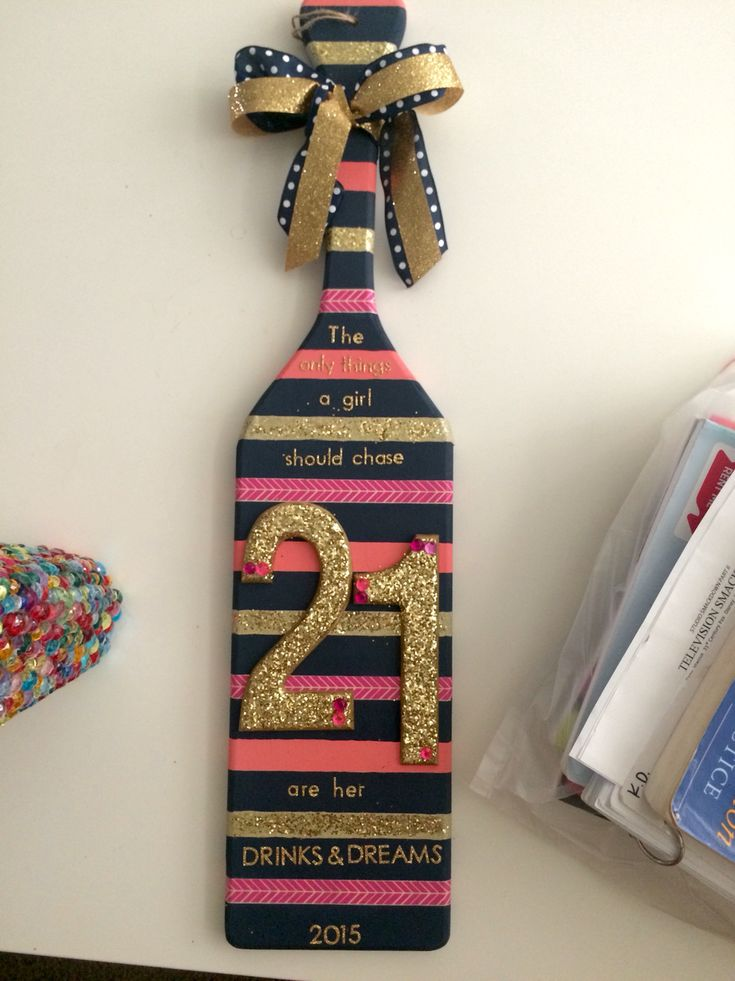 """21st birthday sorority paddle  """"The only things a girl should chase are her drinks and dreams"""""""
