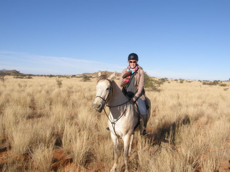 Kimberley doing a bit of horse-riding at Tswalu Lodge in the Kalahari. #Africa #SouthAfrica #travel #horse