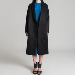 People of Tastes: Korea  dolman sleeve jacquard long coat  #peopleoftastes #heohwansimulation #fw #longcoat #coat