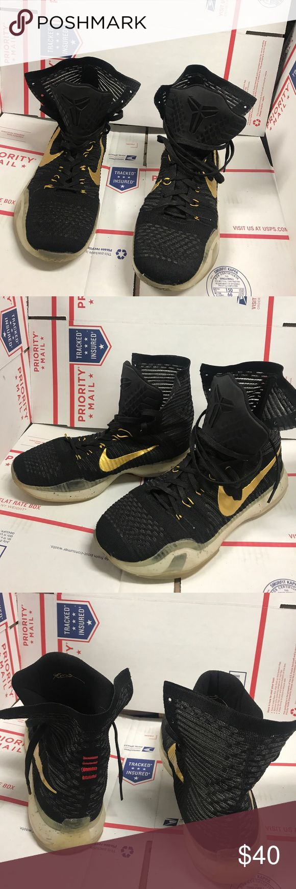 "Hardly worn Rare Kobe x elite  hi top size 8 Worn twice , grooves on soles are all there , no rips or tears ,  excellent condition "" last active roster Kobe shoes "" Nike Shoes Sneakers"